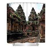 Banteay Srei Temple Shower Curtain