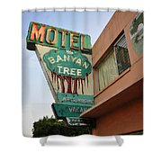 Banyan Tree Motel Shower Curtain