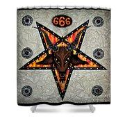 Baphomet - Satanic Pentagram - 666 Shower Curtain