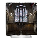Baptismal Font - Church Of Heavenly Rest Shower Curtain