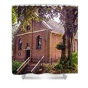 Baptist Church In Giethoorn. Netherlands Shower Curtain