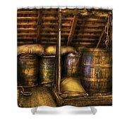 Bar - Wine Barrels Shower Curtain