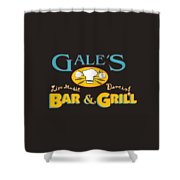 Bar And Grill Sign Shower Curtain