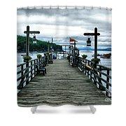 Bar Habor Pier Shower Curtain