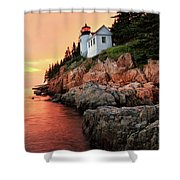 Bar Harbor Light House Shower Curtain