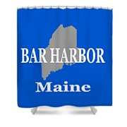 Bar Harbor Maine City And Town Pride  Shower Curtain