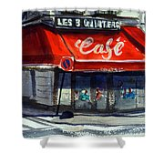 Bar Les 3 Quartiers Shower Curtain