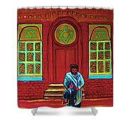 Bar Mitzvah Lesson At The Synagogue Shower Curtain