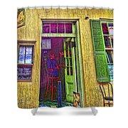 Bar Scene French Quarter New Orleans Shower Curtain
