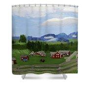 Bar U Ranch Shower Curtain by Linda Feinberg