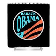 Barack Obama Design Shower Curtain