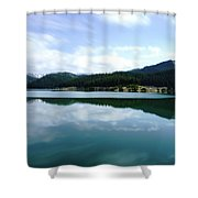 Barajul Bolboci Shower Curtain