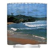 Barbados Berach Shower Curtain