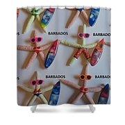 Barbados Starfish  Surfers Shower Curtain