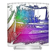 Barbara Cool Rainbow 3 Dimensional Shower Curtain