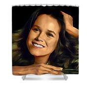 Barbara Hershey Shower Curtain