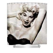 Barbara Nichols, Vintage Actress By John Springfield Shower Curtain