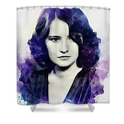 Barbara Stanwyck, Vintage Actress Shower Curtain