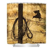 Barbed Landing Shower Curtain