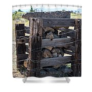 Barbed Wire Anchor Shower Curtain