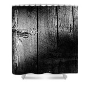 Barbed Wire Cross Shower Curtain