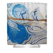 Barbed Wire Lovely Couple Shower Curtain