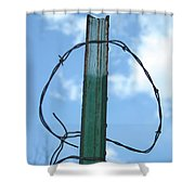 Barbed Wire Sky Shower Curtain