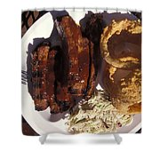 Barbeque Ribs Dinner At Sonny Bryans Shower Curtain