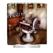 Barber - In The Barber Shop  Shower Curtain