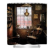 Barber - Remembering The Old Days Shower Curtain