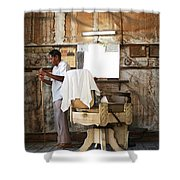 Barber Of The Century Shower Curtain
