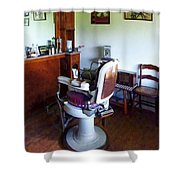 Barber - Old-fashioned Barber Chair Shower Curtain