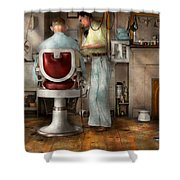 Barber - Our Family Barber 1935 Shower Curtain