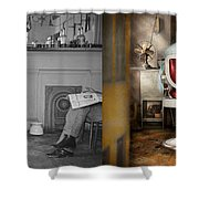 Barber - Our Family Barber 1935 - Side By Side Shower Curtain