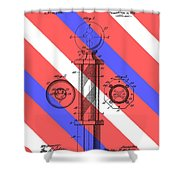 Barber Pole Patent Shower Curtain