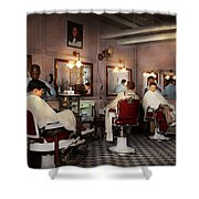 Barber - Senators-only Barbershop 1937 Shower Curtain