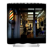 Barber Shop At Closing Time Shower Curtain