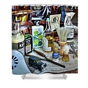 Barber Shop Tools Shower Curtain