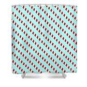 Barber Shop Wallpaper Shower Curtain
