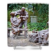 Barber Statue Shower Curtain
