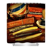 Barber - Vintage Barber Shower Curtain