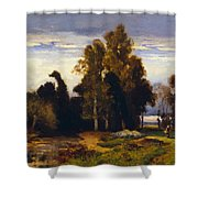 Barbizon Landscape Shower Curtain