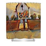 Barb's Bird House Shower Curtain