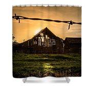 Barbwire Barn Shower Curtain