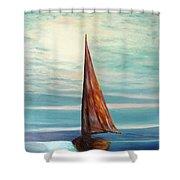 Barca Al Chiar Di Luna Shower Curtain