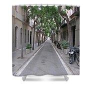 Barcelona Barrio Shower Curtain