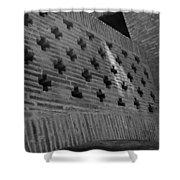 Barcelona Brick Wall Shower Curtain