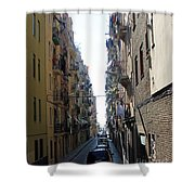 Barcelona Calle Beige Shower Curtain