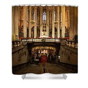 Barcelona Cathedral High Altar And St Eulalia Crypt Shower Curtain