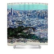 Barcelona Desde El Tibidabo Shower Curtain